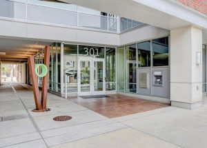 M2 building main entrance from Neil St